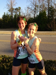So very grateful for awesome teammates like Bigs, who is pretty much the most awesome running BFF a gal could hope for!