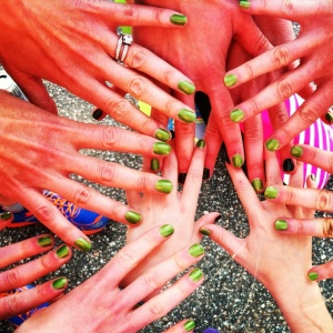 All for one, and St. Paddy's Day manicures for all!