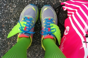 This half marathon PR was brought to you by Shwings, which are wings for your shoes.