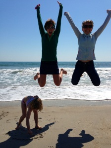 It just wouldn't be a trip to the beach with out the obligatory synchronized jumping pic. Also, no small children were harmed in the taking of this phot0.