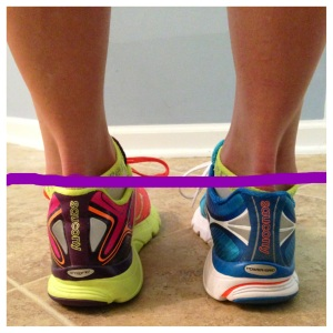Notice the daylight between  the purple line and the shoe on my right foot (the K4) vs the collision between the purple line and the K3 on my left foot. #lowerheelcollarFTW