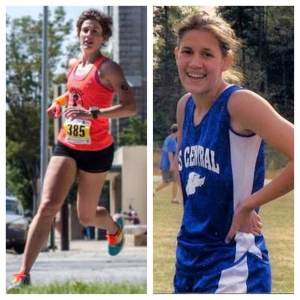 Present day Ellen (left) well on her way to kicking Dorky High School Ellen (right)'s ass in the mile. IN YOUR FACE, High School Ellen!