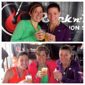 Celebrating fun running success, and huge new marathon PRs as we warm up for Bourbon Street with bottomless mimosas courtesy of Competitor Group's VIP tent. #werekindofabigdeal