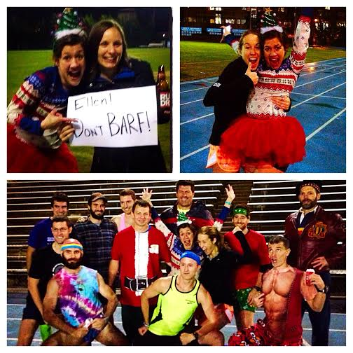 Barf-free Beer Mile = Winning at Life. Also, my friends are cooler than your friends.